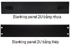 Blanking panel 2U bằng nhựa và bằng thép