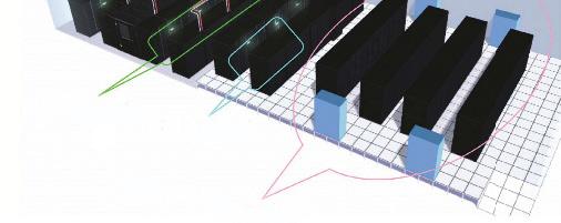 Thiết kế sử dụng kết hợp mô hình làm mát cấp độ phòng-dãy rack- tủ rack