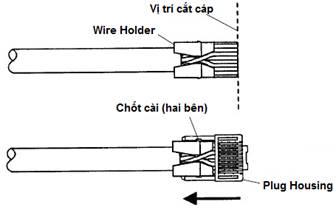 Đầu chụp hạt mạng CRYSTAL mầu trắng trong suốt dùng cho c5, cat6 ,boot color rj45