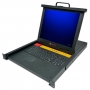 17-inch LCD Console Tray with analog 16-port KVM, integrated keyboard, touch pad